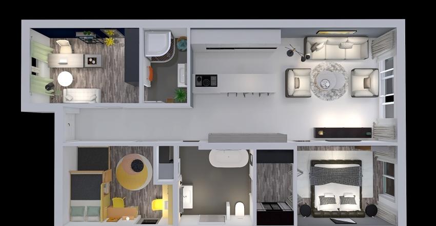 Projekt Veľké Úľany Chameleon Interior Design Render