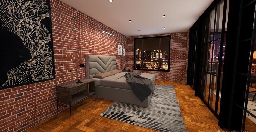 Industrial loft Interior Design Render