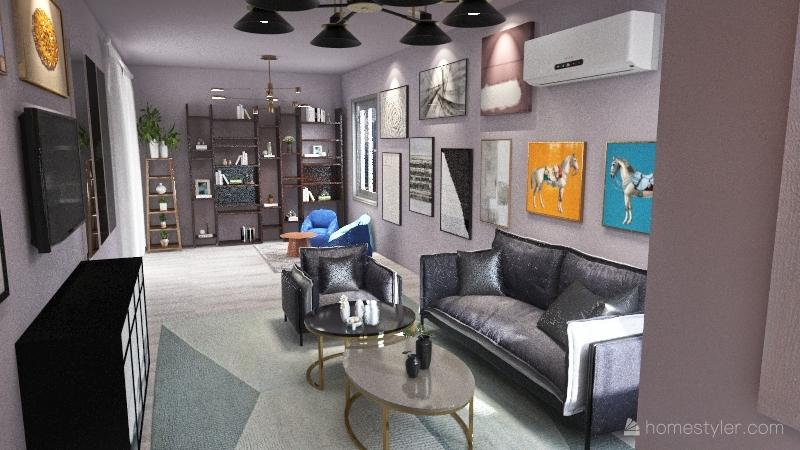 White and Black home Interior Design Render