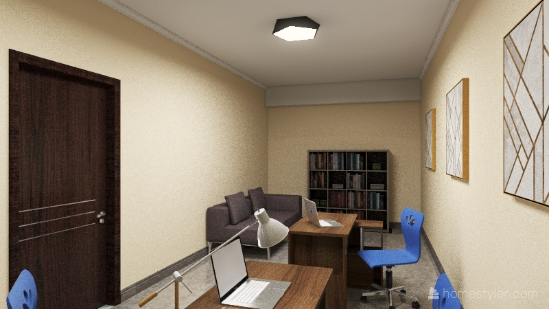 Кафе Лафа 4 Interior Design Render