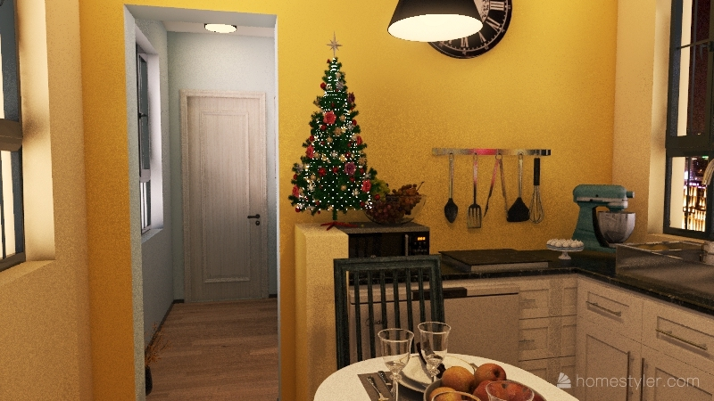 Appartamento (night) Interior Design Render