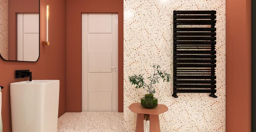 Terrazzo bathroom Interior Design Render