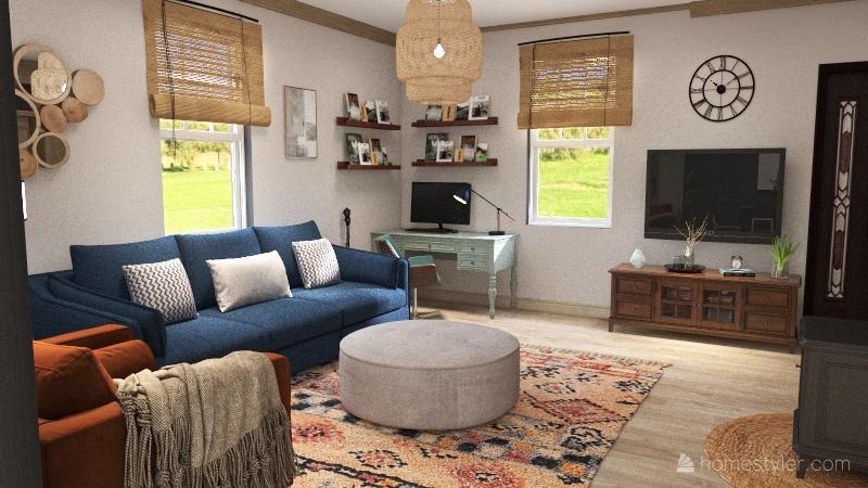 Smedley Living Room Makeover Interior Design Render