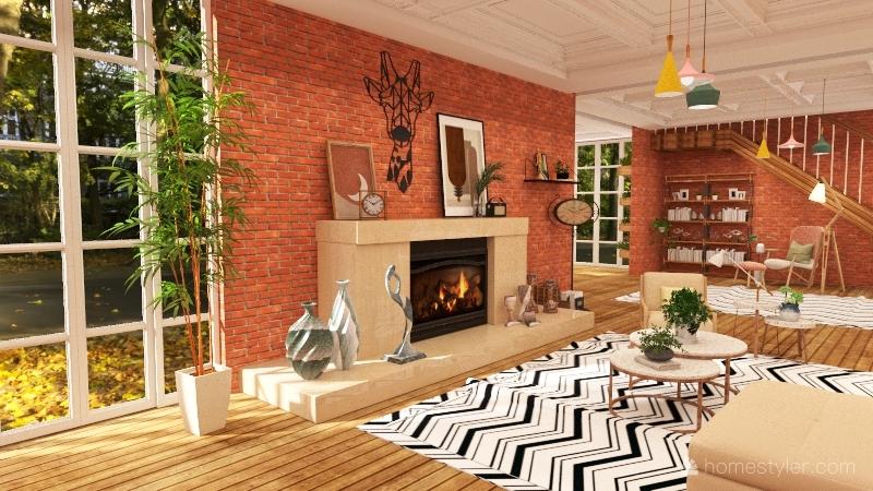 Rustica Interior Design Render