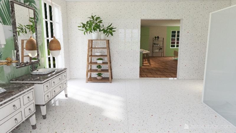 Casa tropical Interior Design Render