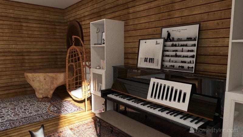 old home Interior Design Render