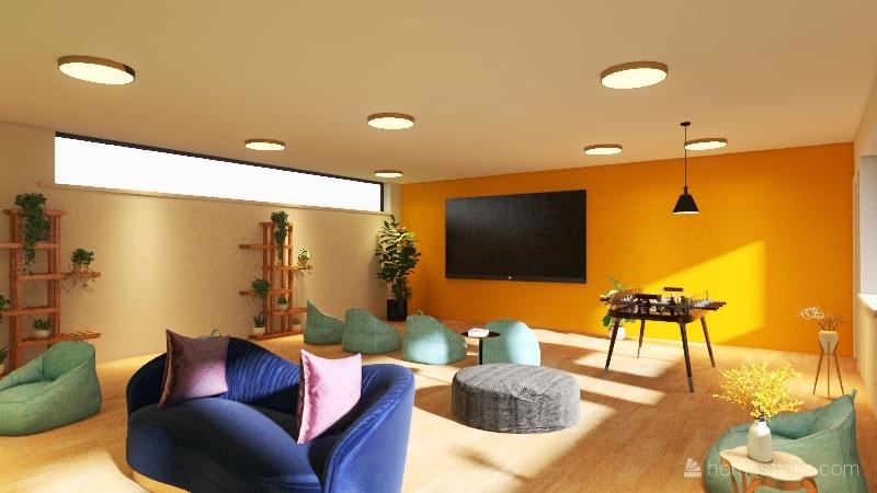 projeto sala de descanso Interior Design Render