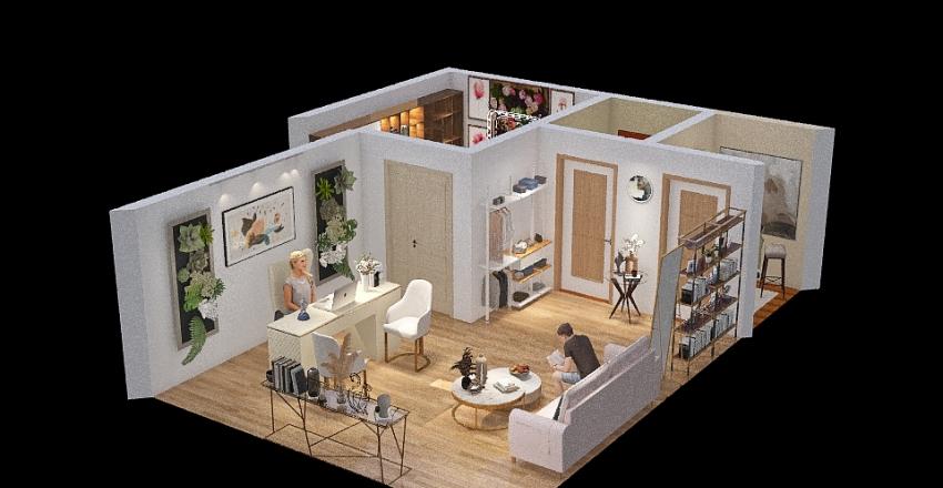 Current Floor Plan of HubVentures Interior Design Render