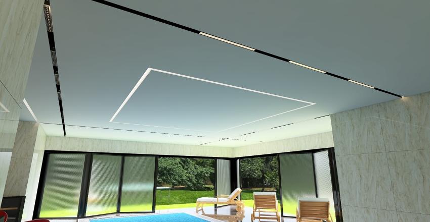 бассейн Interior Design Render