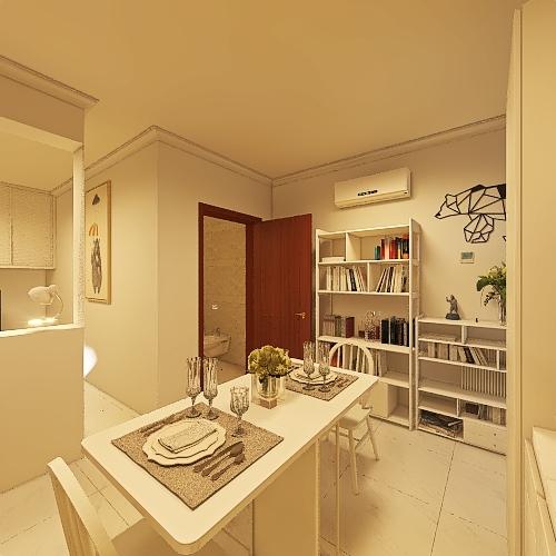 Casa Monolocale Interior Design Render