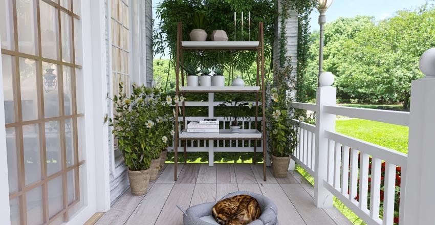 Tiny Cottage House Living Interior Design Render