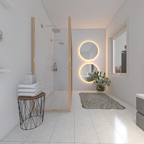 Moderni asunto Interior Design Render