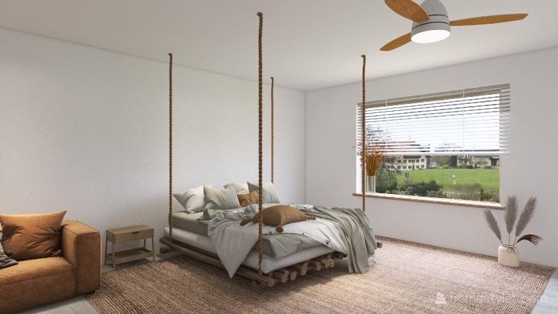 scandinavian house Interior Design Render