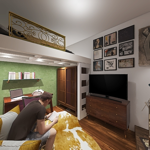 Samu's Living - B Interior Design Render