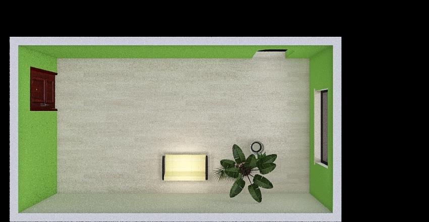 green living room Interior Design Render
