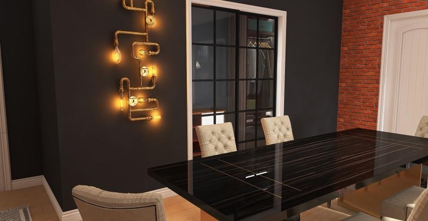1 Bed/Bath Interior Design Render