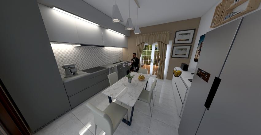 Fabrizio progetto cucina allargata a 4.20 Interior Design Render