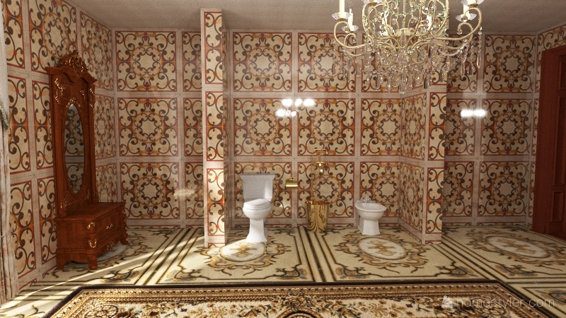 Suite vitoriana Interior Design Render