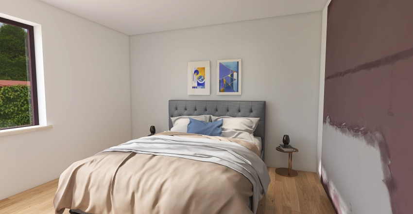 ristrutturazione appartamento a Roma postazioni smartworking Interior Design Render