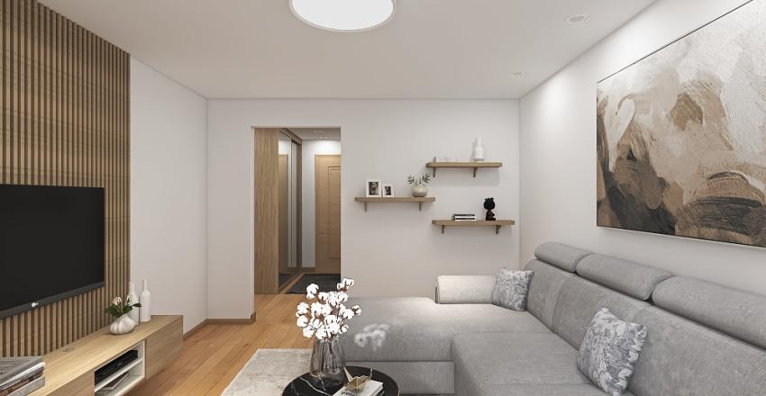 3 rooms flat for family Interior Design Render
