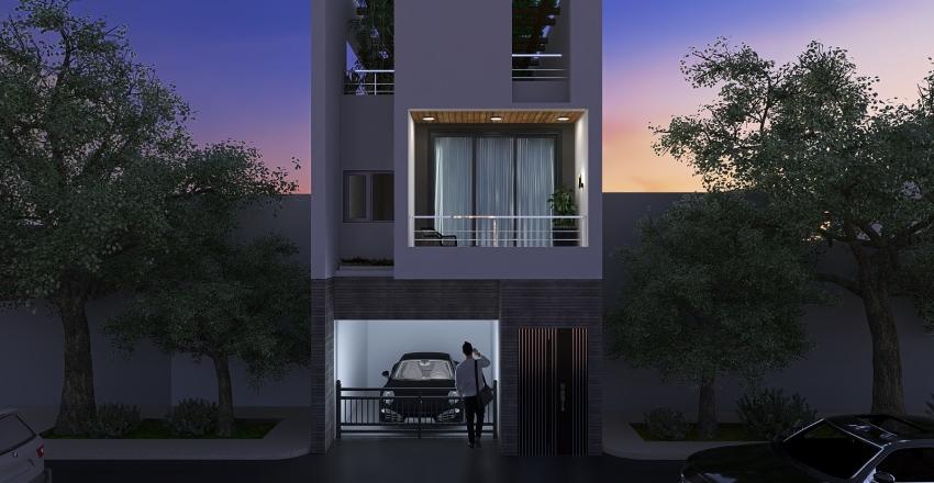 Home Extreior Interior Design Render