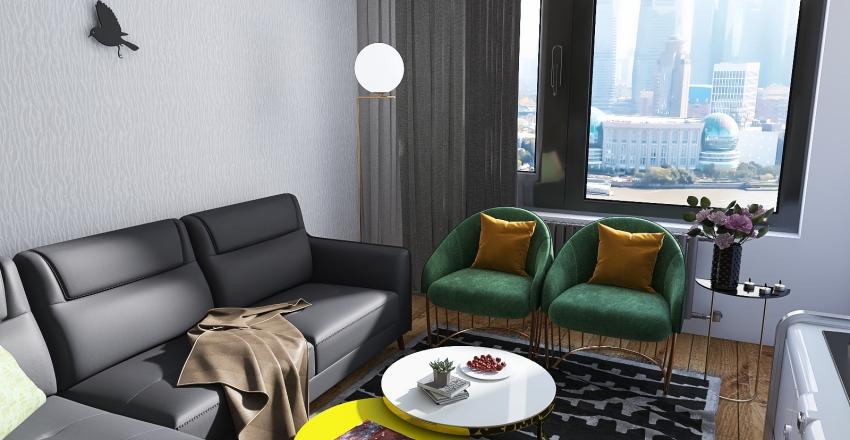 Flat in San Francisco, U.S.A Interior Design Render