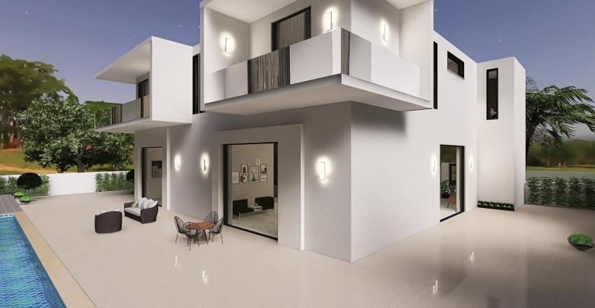 Modern sunny house A1 Interior Design Render