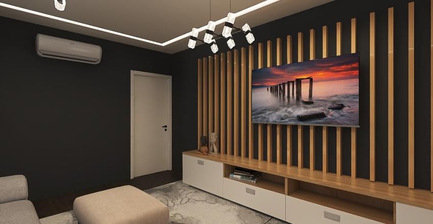 TV ROOM PROJECT Interior Design Render