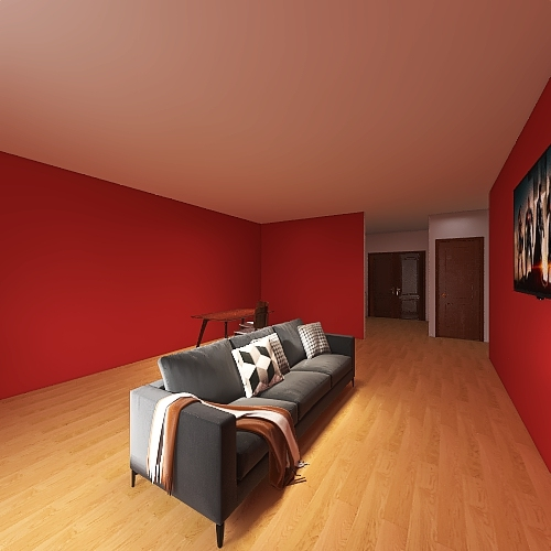 1 bed 1 bath Interior Design Render