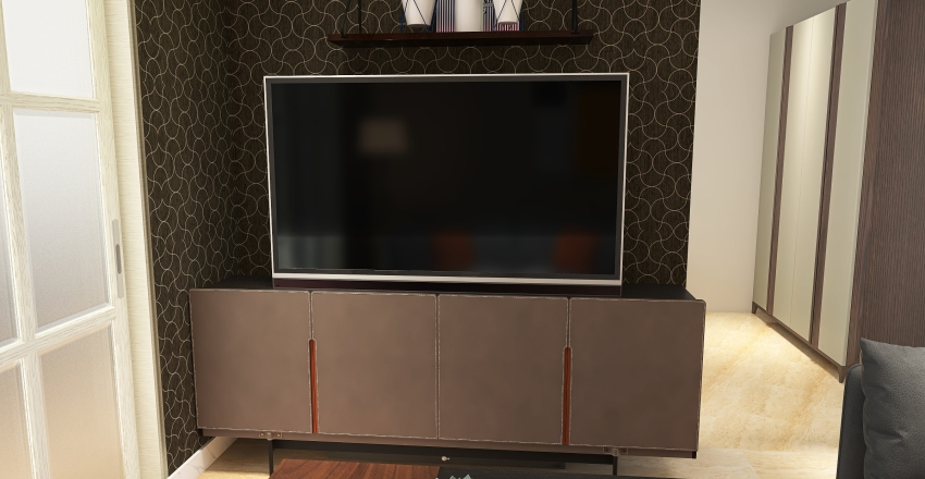 casa sencilla Interior Design Render