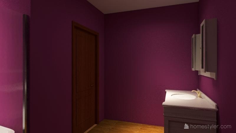 1 bed 1 bath Interior Design Render