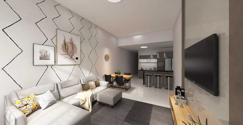 Casa marcelo Interior Design Render