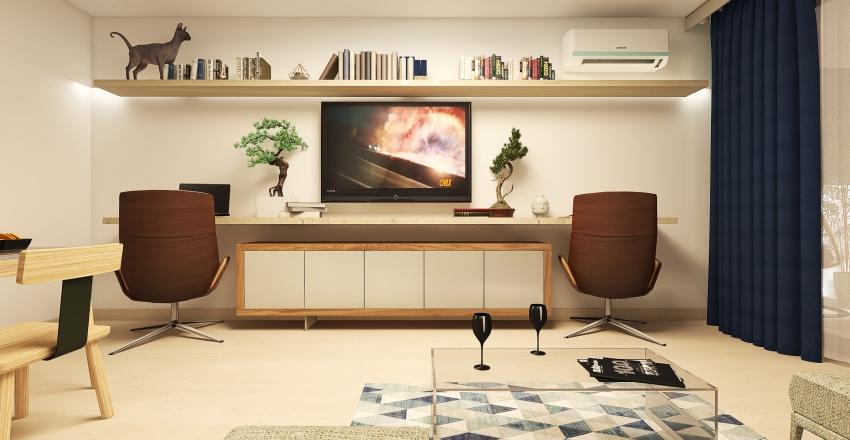 1 Bedroom Flat in Bucharest Interior Design Render