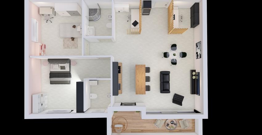 Appartamento di Roma Interior Design Render