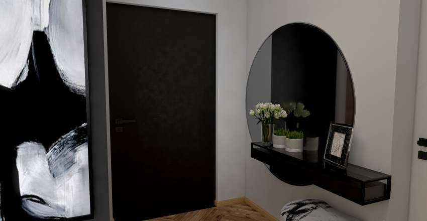 Simple chic Interior Design Render