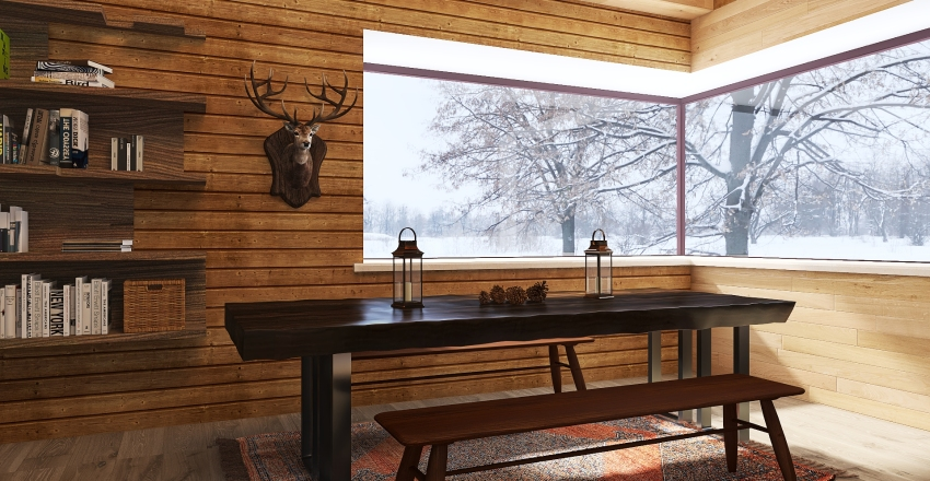 Chalet in montagna Interior Design Render