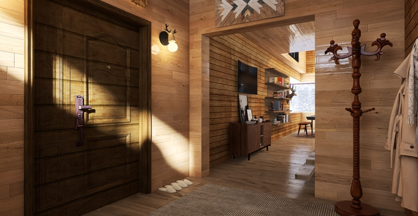 Chalet in montagna Interior Design Render