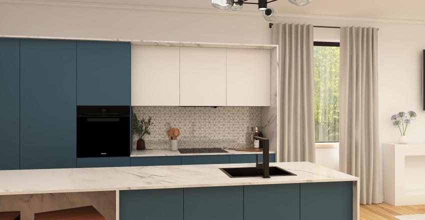 Container Home  Interior Design Render