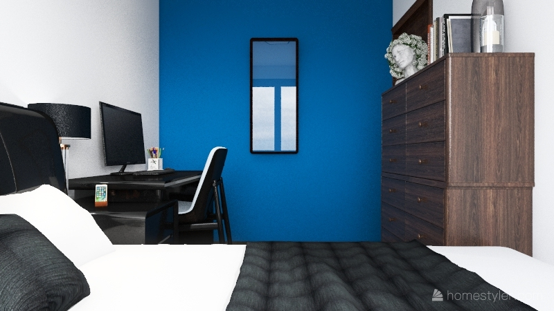 1 Bed, 1 Bath Interior Design Render
