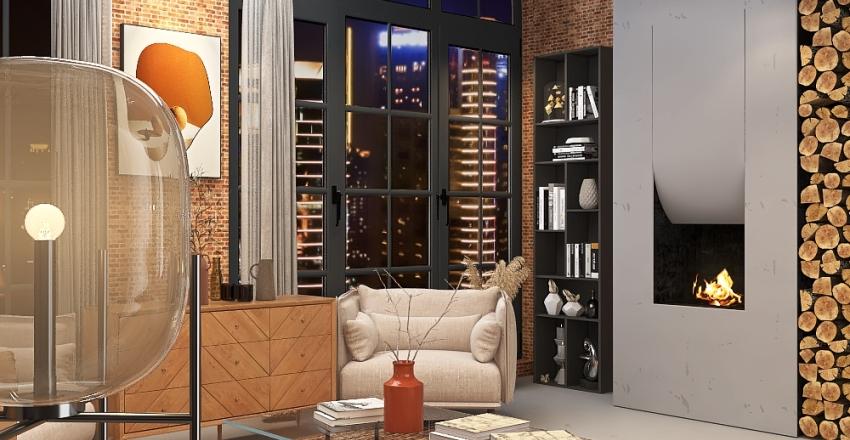 Chicago Wearhouse Home Conversion Interior Design Render