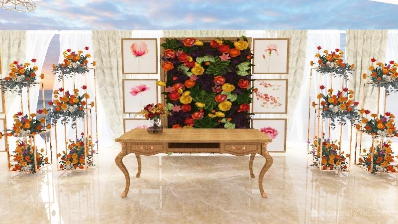 Casamento Floral  Interior Design Render