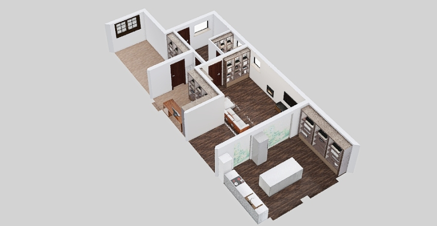 Garden extension_open plan_v1 Interior Design Render
