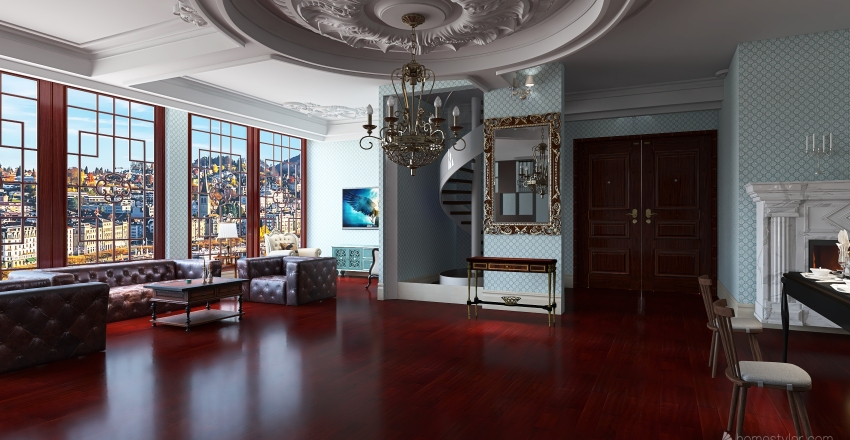 Classic Home Interior Design Render