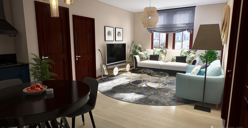 BGC Apartment - Bachelor  Interior Design Render