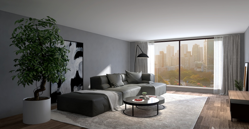 Квартира ЛОФТ Interior Design Render