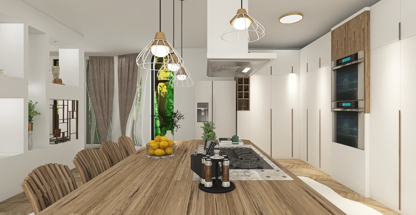 On the water Interior Design Render