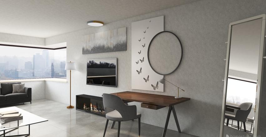 grand hotel room Interior Design Render