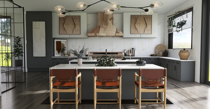 Elevated Country Farmhouse  Interior Design Render