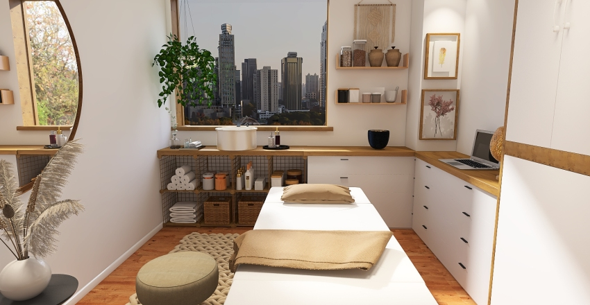 Massage room Interior Design Render
