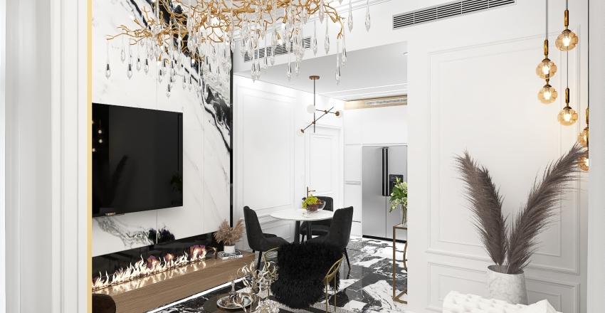 HOLLYWOOD GLAM INTERIOR Interior Design Render